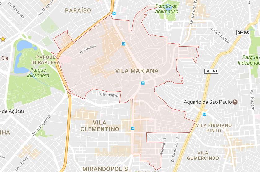 Mapa da Vila Mariana