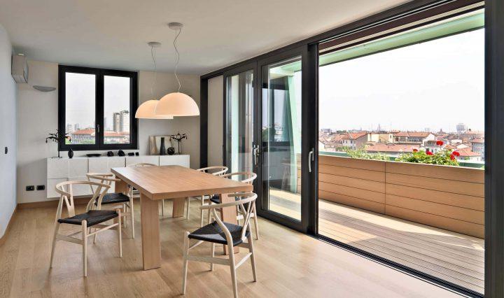 sala integrada com terraço